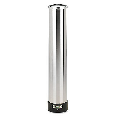 San Jamar Large Water Cup Dispenser w/Removable Cap Wall Mounted Stainless Steel