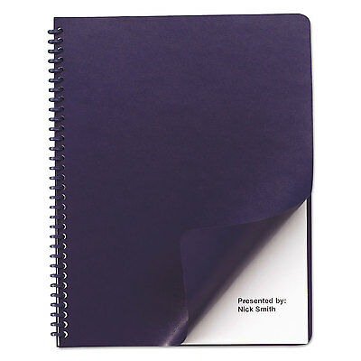 Swingline GBC Leather Look Binding System Covers 11-1/4 x 8-3/4 Navy 100 Sets