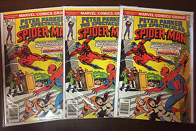 Peter Parker the Spectacular Spider-Man 1 Investor Lot (3) - VF/NM 9.0 or better