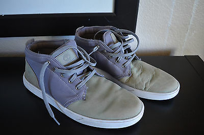 ae2cbfc2891 TIMBERLAND MEN'S GROVETON Leather & Fabric Gray Chukka Shoes 6509B Sz. 10.5