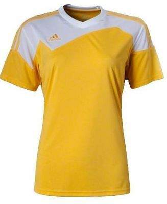adidas Womens Toque 13 Soccer Uniform M Yellow/White MSRP $40 -Free Shipping