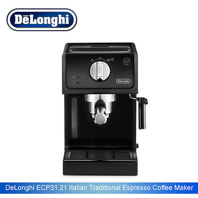 DeLonghi ECP 31.21.BK Black Italian Traditional Espresso Coffee Maker