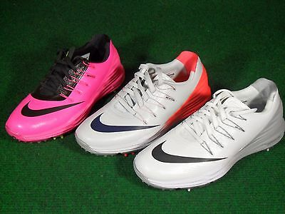 New Womens Nike Golf Lunar Control 4 Softspike Shoes White Gray Black Pink
