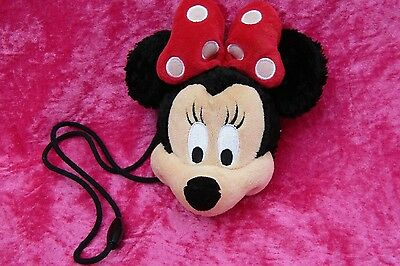 Disney Parks MINNIE MOUSE PLUSH COIN PURSE WITH CLASP Soft Toy Clubhouse