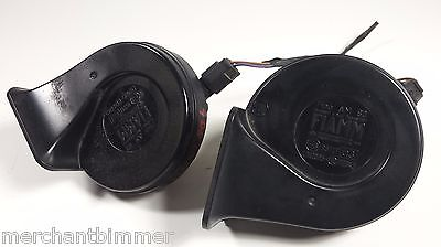 99 00 01 Bmw E38 740 High Low Pitch Horns Pair