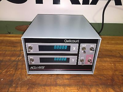 NEW Acu-Rite Quikcount 2Axis Digital Readout DRO Anilam 6 Pin Bausch Lomb Wizard