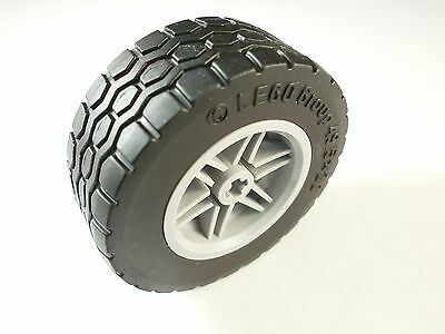 NEW Lego (part nos 15413 & 56145) Tyre 49.53 x 20 & Wheel 30.4 x 20 Md Stone