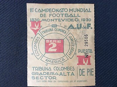 World Cup Uruguay 1930 Series 2 Ticket