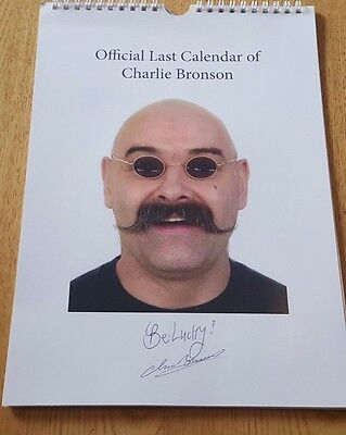Official Last Calendar Of Charles Bronson, Now Salvador, 2014 12 Signed Drawings