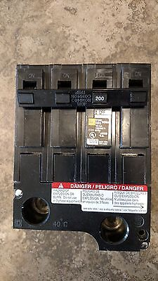 HOM2200BB new in box 200 amp 2 pole circuit breaker hom2200 square d homeline