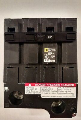 HOM2150BB new in box 150 amp 2 pole hom2150 circuit breaker square d homeline
