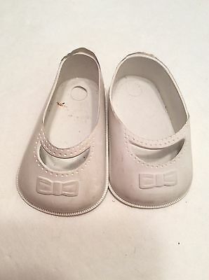 "Lot of 2 Vintage Rubber Plastic Doll Shoes 3/"" x 1.75/"""