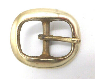 "Solid Brass [ 1"" - 25 mm ] BRIDLE HARNESS Belt Buckle Leather craft"