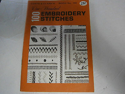 Vintage 1964 Coats & Clark's 100 Embroidery Stitches Book 150 Flat Looped Linked