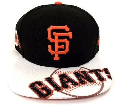 low priced 9b9e4 04321 San Francisco Giants Authentic MLB New Era Gym Class Mens Snapback Fit Cap  Hat