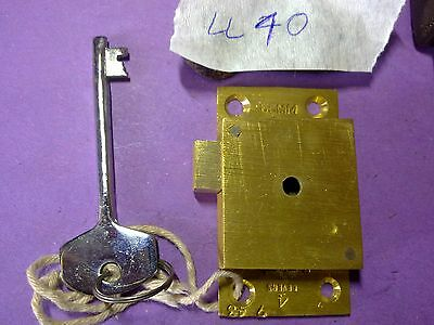 brass cabinet lock and key,63 mm, vintage,  (LL40)