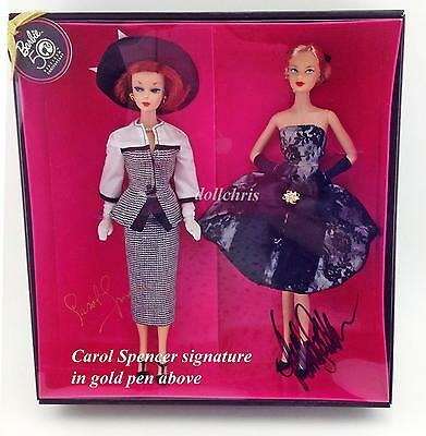 Gala Tribute Barbie 2 Dolls Gift Set 50th Anniversary Carol Spencer Matt signed