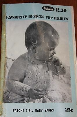 VINTAGE PATONS BABY TODDLER KNITTING BOOKS no. R.30 baby yarns