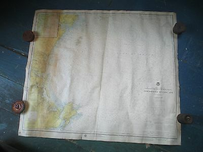"Vintage Portsmouth, NH to Cape Ann Nautical Chart Ca. 1975 39"" x 34 1/2"""