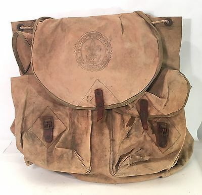 Vintage Boy Scout of America BSA Canvas Backpack