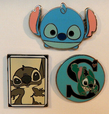 3 STITCH DISNEY TRADING PIN LOT Tradable Lapel Pins lilo and stich