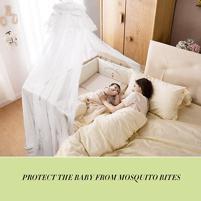 Baby Bedding Crib Mosquito Net Portable Size Round Toddler Mosquito Mesh Net GT
