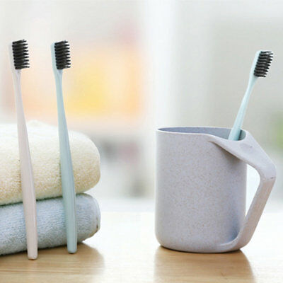 Soft Toothbrush Bamboo Charcoal Nano Solid Color Brush Oral Care Toothbrush GT