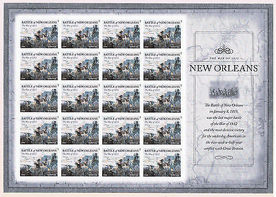 US #4952 2015 Battle of New Orleans, War of 1812 Postage Stamp Mini Sheet