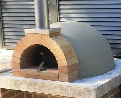 Pizza oven dome outdoor Courtyard woodfired wood fired DIY kit + instructions