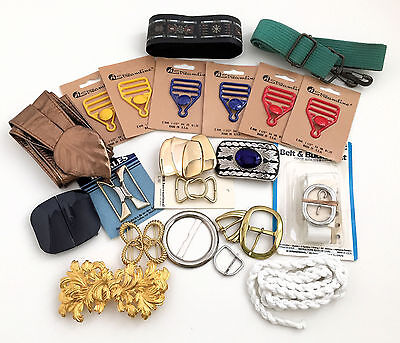 Collection of New & Vintage BELTS & BELT BUCKLES OVERALL BUCKLES METAL & PLASTIC