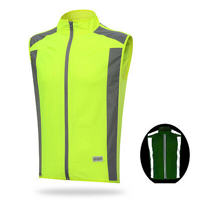 New Reflective Safety Cycling Vest Running Jogging Sports Windbreaker Size S-3XL