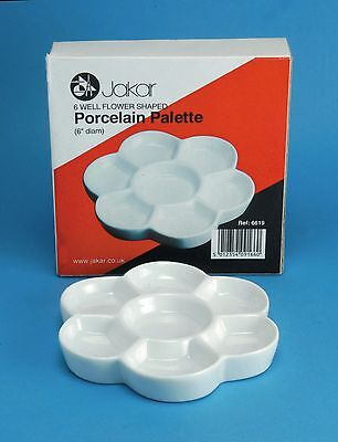 Quality Porcelain Artist Palette - Watercolour, Oil, Arcylic Paint mixing Tray