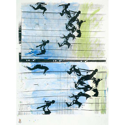 Fotofinish by Sergio Barletta [Poster for Olympic Games Beijing 2008]