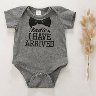 0-12M Newborn Baby Boys Girls Jumpsuit Romper Playsuit Infant Kid Clothes Outfit
