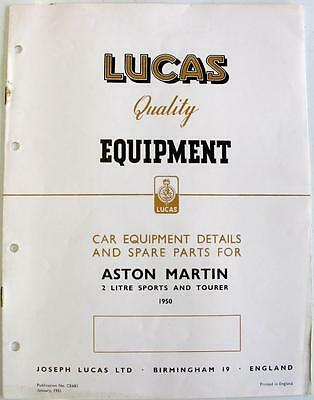 Lucas ASTON MARTIN Cars Electrics Cars Equipment & Spare Parts Jan 1951 #CE683