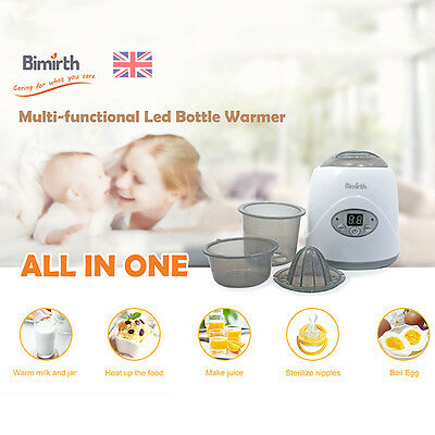 Bimirth Baby Bottle Milk Warmer Safe Multifunctional Disinfect Thermostat Heater