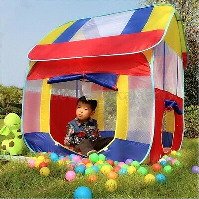 Foldable Kids Children Play Tent Indoor Outdoor Camping Cubby Playhouse Toy Gift