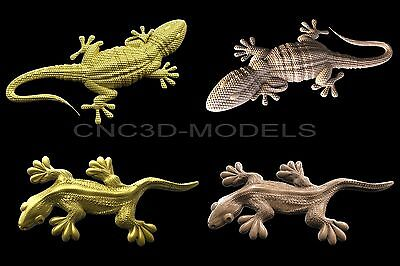 3D Model STL for CNC Router Engraver Carving Artcam Aspire lizard 6011