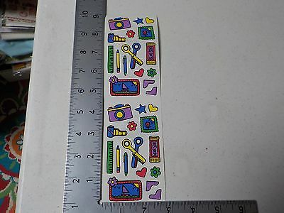 FRANCES MEYER CAMERA SCISSORS GLUE RULER FILM STICKERS SCRAPBOOKING NEW A2632