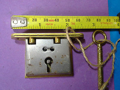 box lock, keep and key, full mortice, reclaimed,42 mm, vintage (LL12)