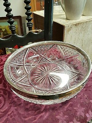 Solid Silver Hallmarked Rimmed Bowl Antique Birmingham Sterling Genuine 1937