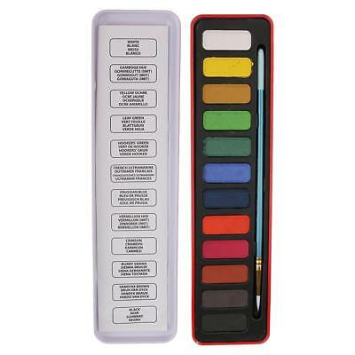 Watercolor Artist set 12 Colors Paints Pan for Watercolor and Acrylic