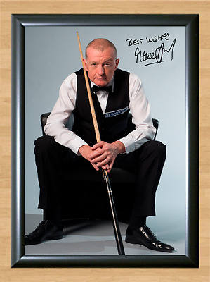 Steve Davis Snooker Masters Signed Autographed A4 Poster Photo Print Pool Cup 1