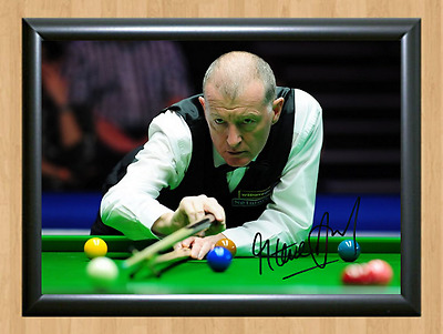 Steve Davis Snooker Masters Signed Autographed A4 Poster Photo Print Pool Cup 2