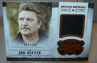 Joe Diffie 2014 Panini Country Music Event Worn Material Card 087/399