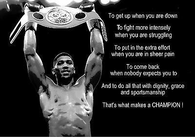 Anthony Joshua Tribute Boxing Inspirational / Motivational Poster / Print