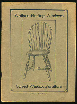 Original 1918 Wallace Nutting Windsor Chair Catalog with Price List ***LOOK***