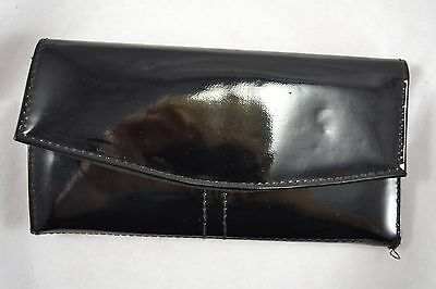 VINTAGE 1990s black patent wallet with key ring and coin purse