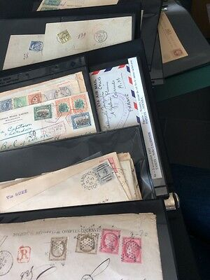 VENTE PRINTEMPS 2#LOT110 archive collection lettres covers Monde colonies Tahiti