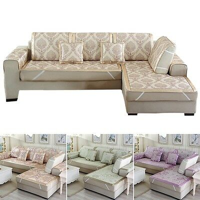 Newly Summer Sofa Mat European Style Couch Cool Pad Cover Jacquard Slipcover 1PC